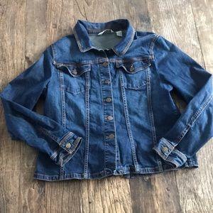 Orvis Jean Denim Jacket Size Large
